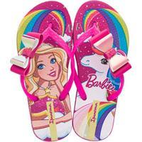 Chinelo Infantil Unicórnio Barbie Fantasia Ipanema 26213