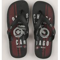 Chinelo Infantil Cartago Old School Preto