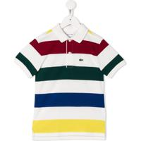 Lacoste Kids Striped Polo Shirt - Branco