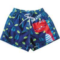 Shorts De Tactel - Infantil - Zoo Summer - Dino - Panda Pool - 6 A 12