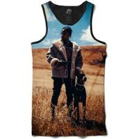 Camiseta Bsc Regata Travis Scott Full Print - Masculino-Preto