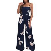 Macacão Floral Laço Pantalona