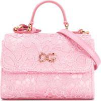 Dolce & Gabbana Kids Bolsa Tiracolo Dg Com Renda - Rosa