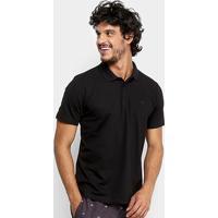 Camisa Polo Quiksilver Piquet Masculina - Masculino-Preto