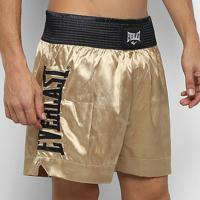 Shorts De Muay Thai/Boxe Everlast C/ Bordado Assinatura - Masculino