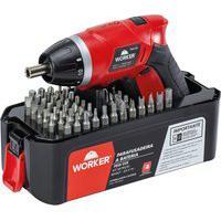 Parafusadeira A Bateria Worker 976199 3.6 Volts Kit Com 58 Peças