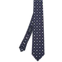 Etro Gravata De Seda Com Padronagem Geométrica - Azul