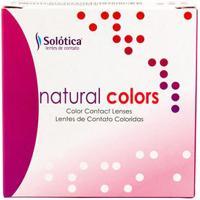 Lente De Contato Natural Colors Anual Sem Grau Cristal Plano