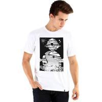Camiseta Ouroboros Manga Curta Imaginação Livre - Masculino-Branco