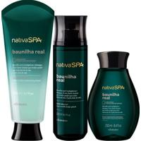 Combo Nativa Spa Baunilha Real: Loção Hidratante 200Ml + Óleo Corporal 250Ml + Body Splash 200Ml
