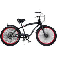 Bicicleta Dropboards Psycle Naja 18 - Aro 24 - Freio A Disco - Câmbio Shimano - 7 Marchas - Preto