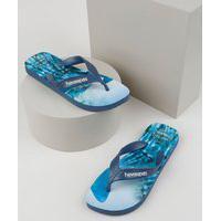Chinelo Havainas Masculino Top Surf Azul