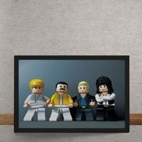 Quadro Decorativo Banda Queen Lego 25X35