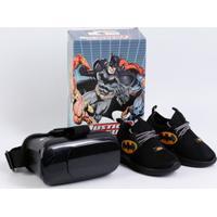 Tênis Infantil Batman Brinde Óculos Vr 3D Grendene Kids 21736