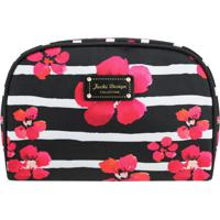 Nécessaire Retangular Floral - Preta & Rosa - 15,5X2Jacki Design