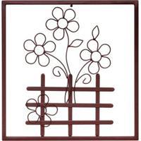 Quadro Decorativo Flores Marrom