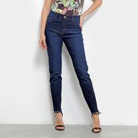 211489a8f ... Calça Jeans Skinny Forum Marisa Com Franja Feminina - Feminino-Jeans