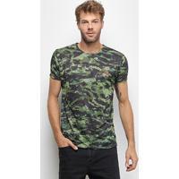 Camiseta Hd Slim Especial Force Masculina - Masculino-Verde