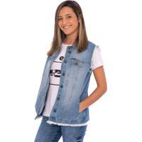Colete Jeans Aee Surf Reta Delave Azul
