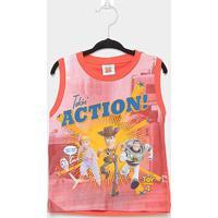 Regata Infantil Fakini Toy Story Action Masculina - Masculino-Laranja Escuro