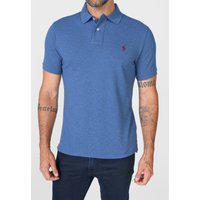 Camisa Polo Polo Ralph Lauren Slim Logo Azul