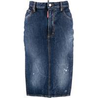 Dsquared2 Saia Lápis Jeans - Azul