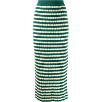 Marni Saia Lápis Listrada - Verde
