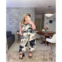 Calça Almaria Plus Size Miss Taylor Pantacourt Est