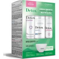 Kit Detox Home Care Shampoo Cadiveu 250Ml+Condicionador 250Ml+Proteína 320Ml