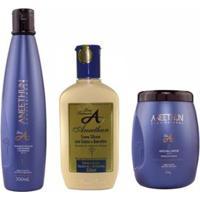 Kit Silicone Aneethun Linha A 1 Shampoo 300Ml + 1 Creme 250Ml + 1 Máscara Capilar 500G - Unissex-Incolor