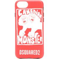 Dsquared2 Capa Do Iphone 8 'Canadian Monster' - Vermelho