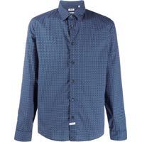Kenzo Camisa Mangas Longas Com Estampa - Azul