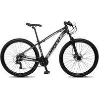 Bicicleta Aro 29 Quadro 17 Alumínio 24V Suspensão Trava Freio Hidráulico Z4-X Preto/Cinza - Dropp