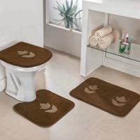 Jogo Banheiro Dourados Enxovais Tulipa Cafe