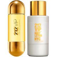 Kit 212 Vip Carolina Herrera Eau De Parfum + Body Lotion - Feminino-Incolor