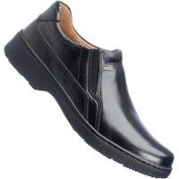 Sapato Pegada Comfort Anilina Soft Social Masculino - Masculino-Preto