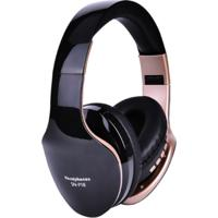 Fone De Ouvido Bluetooth Sn18 - Preto E Dourado