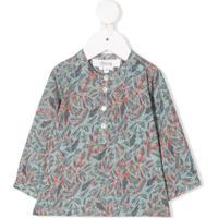 Bonpoint Blusa Com Abotoamento E Estampa - Verde