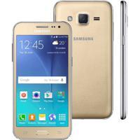 "Smartphone Samsung Galaxy J2 - Duos- Dourado - 4G Lte - 8Gb - Tela 4.7"" - Android 5.1"