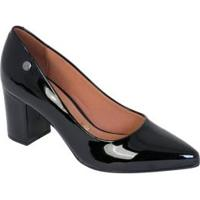Sapato Vizzano Preta Com Salto Quadrado