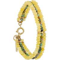 Isabel Marant Bracelete Com Aplicação De Pedra - Amarelo