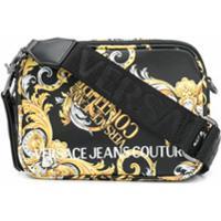 Versace Jeans Couture Bolsa Transversal Com Estampa Barroca E Logo - Preto