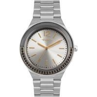 Relógio Euro Double Face Lux Feminino - Feminino-Prata