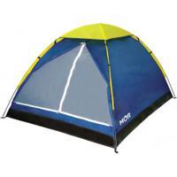 Barraca De Camping Iglu Mor - 4 Pessoas - Azul/Amarelo