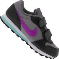 Tênis Nike Md Runner 2 - Infantil - Cinza Escuro/Preto