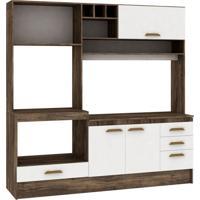 Cozinha Compacta Livia 4 Pt 3 Gv Naturalle Com Branco