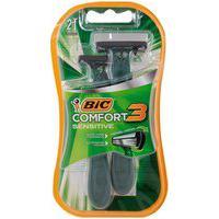 Aparelho De Barbear Bic 3 Comfort Sensível 2 Unidades