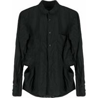 Comme Des Garçons Homme Plus Camisa Com Efeito Enrugado - Preto