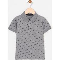 Camiseta Infantil Estampada Gola Polo - Tam 1 A 4 Anos