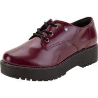 Sapato Feminino Oxford Via Marte - 207305 Vinho 01 34